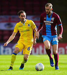 Edward Upson of Bristol Rovers battles for the ball with Kevin van Veen of Scunthorpe United - Mandatory by-line: Alex James/JMP - 09/03/2019 - FOOTBALL - Glanford Park - Scunthorpe, England - Scunthorpe United v Bristol Rovers - Sky Bet League One