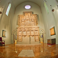 Alberto Carrera, Altarpiece of Montearag&oacute;n, Cathedral Museum, Holy Cathedral of the Transfiguration of the Lord, Cathedral of Saint Mary of Huesca, Catedral de la Transfiguraci&oacute;n del Se&ntilde;or, Catedral de Santa Mar&iacute;a, Huesca Cathedral, Huesca, Arag&oacute;n, Spain, Europe<br /> <br /> EDITORIAL USE ONLY