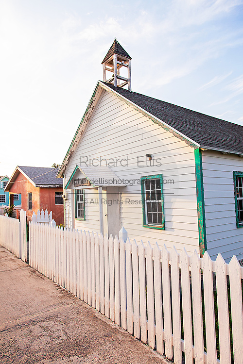 The Old Methodist Church in New Plymouth on Green Turtle Cay, Bahamas.