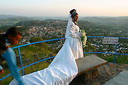 GONDAR, GONDAR/ETHIOPIA..Wedding party at Goha Hotel, overlooking downtown and the Palaces..(Photo by Heimo Aga)