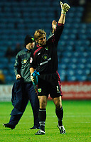 Photo: Daniel Hambury.<br />Coventry City v Norwich City. Coca Cola Championship.<br />26/11/2005.<br />Norwich's Robert Green applauds the fans at the end of the game.