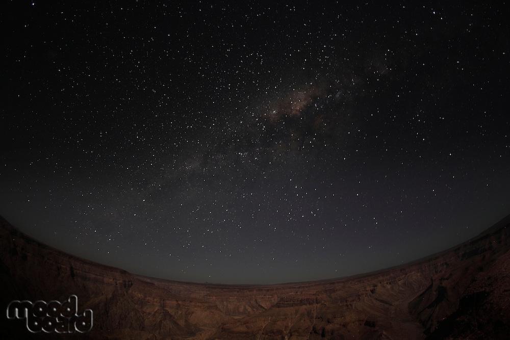 Fish River Canyon  Milky Way  Namibia
