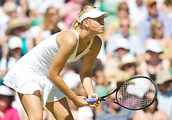 LONDON, ENGLAND - Wednesday, June 24, 2009: Maria Sharapova (RUS) during her Ladies' Singles 2nd Round defeat on day three of the Wimbledon Lawn Tennis Championships at the All England Lawn Tennis and Croquet Club. (Pic by David Rawcliffe/Propaganda)