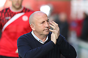 John Coleman during the Sky Bet League 2 play-off second leg match between Accrington Stanley and AFC Wimbledon at the Fraser Eagle Stadium, Accrington, England on 18 May 2016. Photo by Pete Burns.