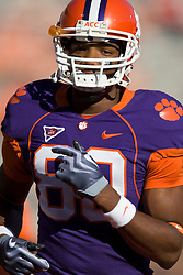 November 21, 2009; Clemson, SC, USA; Clemson Tigers wide receiver Brandon Ford (80) before the game against the Virginia Cavaliers at Memorial Stadium.  Clemson defeated Virginia 34-21.