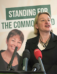 © Licensed to London News Pictures. 24/02/2015. London, UK. (L-R) Natalie Bennet, Leader of the Green Party.  The Green Party Campaign Launch ahead of the UK general election at RSA House in Central London today 24th February 2015. Photo credit : Stephen Simpson/LNP