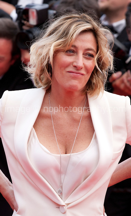Valeria Bruni Tedeschi at the Closing ceremony and premiere of La Glace Et Le Ciel at the 68th Cannes Film Festival, Sunday 24th May 2015, Cannes, France.