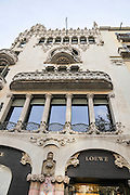 Casa Lleo Morera, with the Loewe shop,  Barcelona Spain