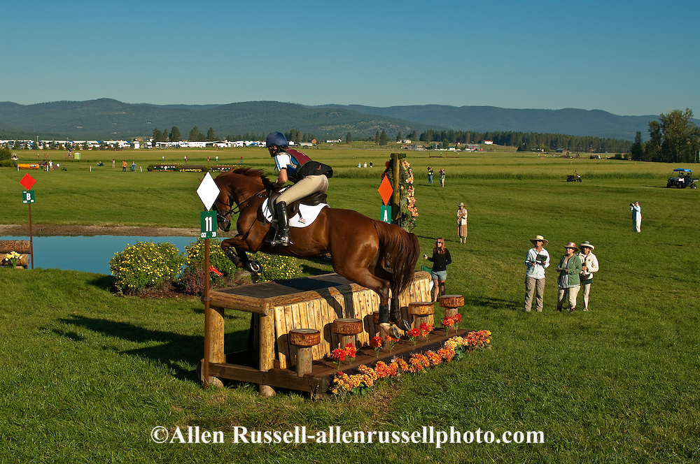 Eventing (equestrian triathlon), Cross Country event, The Event at Rebecca Farms, Kalispell, Montana