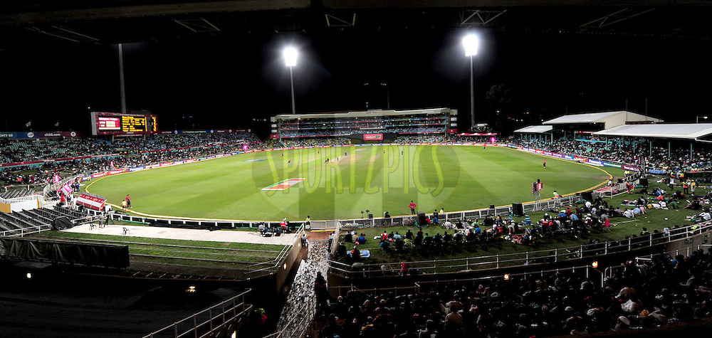 View of the park during match 18 of the Karbonn Smart CLT20 South Africa between The Sydney Sixers and The Mumbai Indians held at Kingsmead Park in Durban, South Africa on the 22nd October 2012..Photo by Gerhard Duraan/SPORTZPICS/CLT20