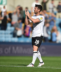 Derby County's David Nugent applauds the away fans at full time
