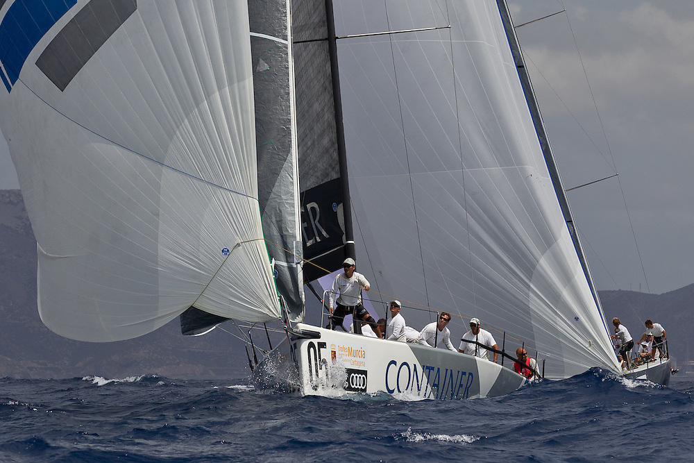 SPAIN, Cartagena. 28th August 2011. AUDI MedCup, Region of Murcia Cartagena Trophy. TP52, CONTAINER.