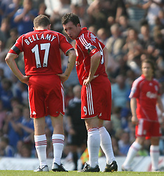 Portsmouth, England: Saturday, April 28, 2007: Liverpool's Craig Bellamy and Robbie Fowler in action against Portsmouth during the Premiership match at Fratton Park (Pic by Chris Ratcliffe/Propaganda)
