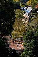 Students walk across Central Campus.