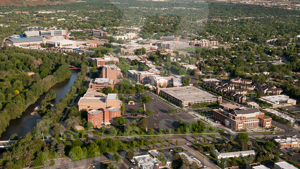 Aerials, cityscape, campus scene, John Kelly photo