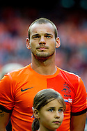 NETHERLANDS, Amsterdam Wesley Sneijder before the gameThe Netherlands versus Northern Irland during friendly soccer match between Netherlands vs Northern Irland in Rotterdam on June 2, 2012. AFP PHOTO/ ROBIN UTRECHT
