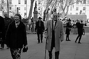 NICHOLAS PARSONS, Service of Thanksgiving for the life of Edward Baron Montagu of Beaulieu. St. Margaret's Westminster. London. 20 January 2016