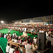 ART OF LIVING DEVOTEES PREPARTING FOR WORLD RECORD 4000 FLUTIST PLAYING FLUITE AT A TIME. FIRST OF ITS KING EVENT IN THE UNIVERSE.
