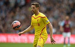 Liverpool's Joe Allen - Photo mandatory by-line: Alex James/JMP - Mobile: 07966 386802 - 19/04/2015 - SPORT - Football - London - Wembley Stadium - Aston Villa v Liverpool - FA Cup Semi-Final