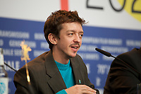 Actor Nahuel Pérez Biscayart at the press conference for the film Persian Lessons at the 70th Berlinale International Film Festival, on Saturday 22nd February 2020, Hotel Grand Hyatt, Berlin, Germany. Photo credit: Doreen Kennedy