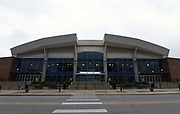 General overall view of the Knapp Center on the campus of Drake University in Des Moines, Iowa, Thursday, June 21, 2018. The  7,152-seat multi-purpose arena was built in 1992 and is the home of the Drake Bulldogs basketball team.