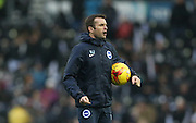 Brighton First Team Coach, Nathan Jones during the Sky Bet Championship match between Derby County and Brighton and Hove Albion at the iPro Stadium, Derby, England on 12 December 2015.