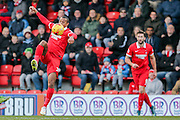Leyton Orient forward Jay Simpson  during the Sky Bet League 2 match between Leyton Orient and York City at the Matchroom Stadium, London, England on 21 November 2015. Photo by Simon Davies.