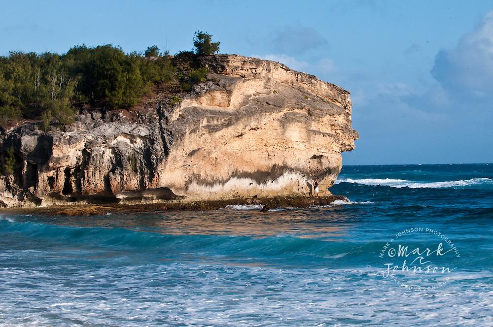 Fisherman, Shipwreck Beach, Kauai, Hawaii