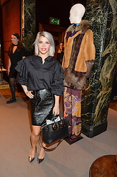 PIPS TAYLOR at the opening of the exhibition 'My Mother Was A Reeler' at Etro, 43 Old Bond Street, London on 5th October 2016.