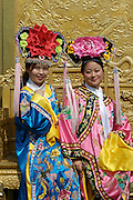 Gugong (Forbidden City, Imperial Palace). Girls dressed as princesses for a souvenir photo.
