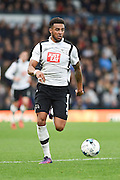 Derby County defender Cyrus Christie (2) during the EFL Sky Bet Championship match between Derby County and Sheffield Wednesday at the iPro Stadium, Derby, England on 29 October 2016. Photo by Jon Hobley.