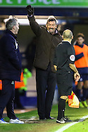 Phil Brown, Manager of Southend United, (centre) appeals against a decision that goes against Southend United during the Sky Bet League 2 match at Roots Hall, Southend<br /> Picture by David Horn/Focus Images Ltd +44 7545 970036<br /> 10/01/2015