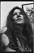 1960's American singer - songwriter Janis Joplin relaxes backstage at Cincinnati Music Hall before taking the stage in 1968. Janis died of a heroin overdose in 1970.<br />