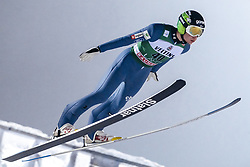 February 8, 2019 - Lahti, Finland - Anže LaniÅ¡ek competes during FIS Ski Jumping World Cup Large Hill Individual Qualification at Lahti Ski Games in Lahti, Finland on 8 February 2019. (Credit Image: © Antti Yrjonen/NurPhoto via ZUMA Press)