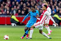 AMSTERDAM - 05-04-2017, Ajax - AZ, Stadion Arena, AZ speler Ridgeciano Haps, Ajax speler Kenny Tete