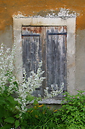 These old wooden shutters were taken outside the residence of Claude Monet and his now famous garden.