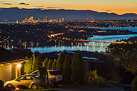 Sunset over Seattle & Lake Washington