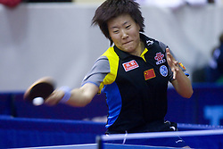 Guo Yan of China at 10th Slovenian Open Table Tennis Championships - Pro Tour Velenje Slovenian Open tournament, in Round 1, on January 15, 2009, in Red sports hall, Velenje, Slovenia. (Photo by Vid Ponikvar / Sportida)