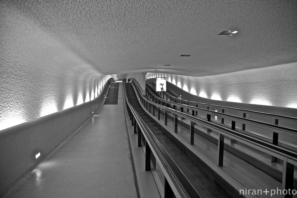 Moving walkway, Paris Charles de Gaulle Airport, Paris, France