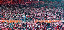 12.10.2015, Ernst Happel Stadion, Wien, AUT, UEFA Euro 2016 Qualifikation, Österreich vs Liechtenstein, Gruppe G, im Bild Fans von Österreich // the UEFA EURO 2016 qualifier group G match between Austria and Liechtenstein at the Ernst Happel Stadion, Vienna, Austria on 2015/10/12. EXPA Pictures © 2015 PhotoCredit: EXPA/ Sebastian Pucher
