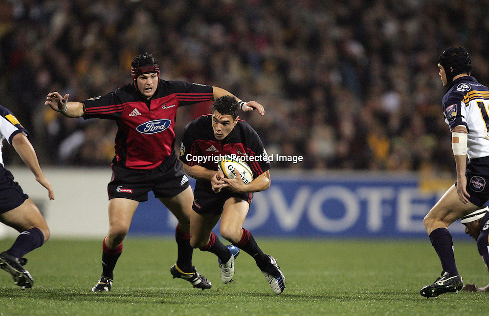 22 May, 2004. Super 12 Final, Canberra Stadium, Canberra ACT, Australia.<br /> Daniel Carter.<br /> The Brumbies defeated the Crusaders  48-37<br /> Please credit: Andrew Cornaga/Photosport