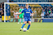 AFC Wimbledon midfielder Max Sanders (23) dribbling during the EFL Sky Bet League 1 match between AFC Wimbledon and Portsmouth at the Cherry Red Records Stadium, Kingston, England on 19 October 2019.