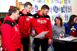 Richard O'Donnell, Aden Flint and Luke Freeman of Bristol City join a choir to sing Christmas Carols during Bristol City's visit to the Children's Hospice South West at Charlton Farm - Mandatory by-line: Robbie Stephenson/JMP - 21/12/2016 - FOOTBALL - Children's Hospice South West - Bristol , England - Bristol City Children's Hospice Visit