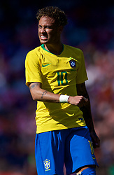 LIVERPOOL, ENGLAND - Sunday, June 3, 2018: Brazil's Neymar da Silva Santos Júnior during an international friendly between Brazil and Croatia at Anfield. (Pic by David Rawcliffe/Propaganda)
