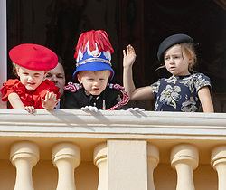 November 19, 2019, Monaco, Monaco: 19-11-2019 Monte Carlo Prince Jacques, Princess Gabriella of Monaco, Kaya Rose Wittstock during the Monaco national day celebrations in Monaco. (Credit Image: © face to face via ZUMA Press)