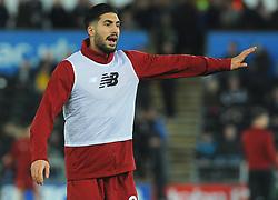 Emre Can of Liverpool warms up- Mandatory by-line: Nizaam Jones/JMP - 22/01/2018 - FOOTBALL - Liberty Stadium- Swansea, Wales - Swansea City v Liverpool - Premier League