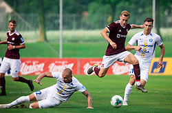 Žan Rogelj of Triglav during football match between NK Triglav and NK Celje in 7th Round of Prva liga Telekom Slovenije 2019/20, on August 25, 2019 in Sports park, Kranj, Slovenia. Photo by Vid Ponikvar / Sportida
