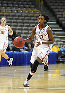 24 MARCH 2009: Oklahoma guard Danielle Robinson (13) brings the ball down the court during an NCAA Women's Tournament basketball game Tuesday, March 24, 2009, at Carver-Hawkeye Arena in Iowa City, Iowa. Oklahoma defeated Georgia Tech 69-50.