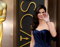 Sandra Bullock  arriving to the 2014 Oscars at the Hollywood and Highland Center in Hollywood, California, USA,  Sunday, 2nd March 2014. Picture by Hollywood Bubbles / i-Images<br /> UK ONLY
