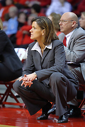 01 January 2009: Redbird coach Robin Pingeton. The game between the Creighton Bluejays and the Illinois State Redbirds ended with the Redbirds on top by a score of 63-43 on Doug Collins Court inside Redbird Arena on the campus of Illinois State University, Normal IL.